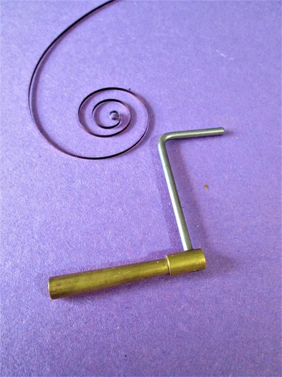 1 Old Solid Brass and Steel Crank Style Key for Antique & Vintage Clocks Size 3 (3.00)  Stk# K20