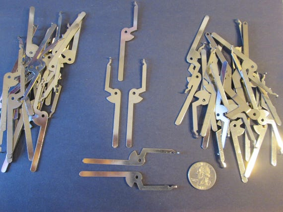 "44 New Chrome Clock Frame Brackets 3 3/8"" - Great for Steampunk Art, Jewelry Making, Crafts and etc..."