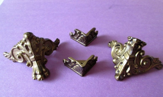1 Set of Reproduction Cast Metal Mantle Clock Feet for your Clock Projects, Steampunk Art, Metalworks and Etc...