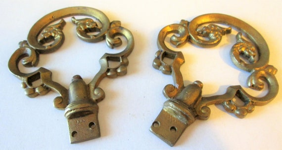 2 Old Large Solid Brass Furniture Ornaments for your Projects -  Steampunk Art and Etc..