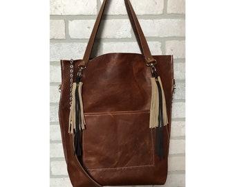 Leather handbag shoulder bag crossbody bag tote purse
