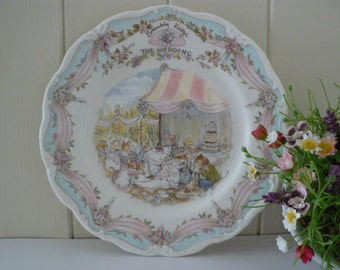 Brambly Hedge plate The Wedding celebration plate