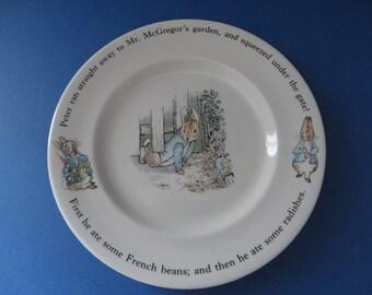 Wedgwood vintage 1990's  Peter Rabbit and Mr. McGregor plate