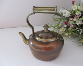 Copper and brass small 1950's kettle