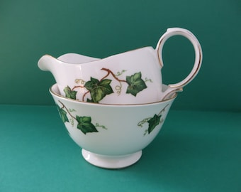 Colclough vintage 1960's Ivy Leaf  Creamer set 2nd Quality