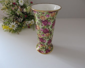 Royal Albert vintage 1990's Chintz vase