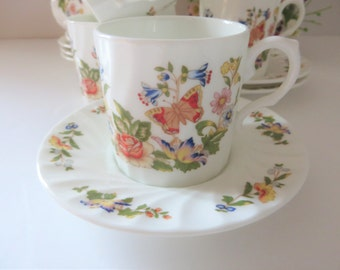 Aynsley vintage 1980's  Cottage Garden  coffee cup and saucer