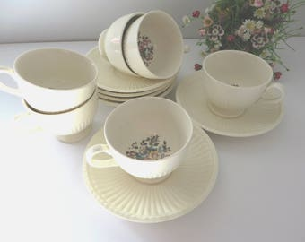 Wedgwood 1930's vintage Conway coffee cup and saucer,