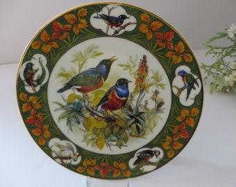 Schirnding Bavaria Starlings  vintage 1994 German plate