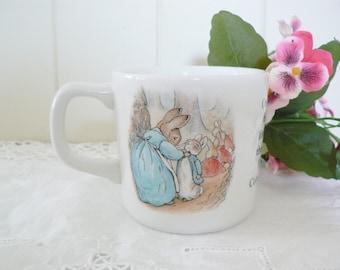 Beatrix Potter vintage 1990's Peter Rabbit mug