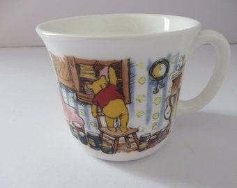 Winnie the Pooh christening vintage 1980's mug