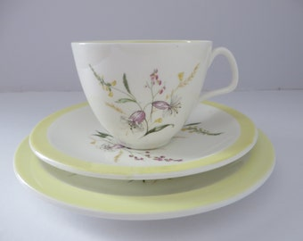 Foley vintage 1940's Summertime tea set trio