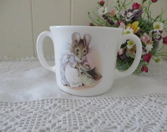 Beatrix Potter vintage 1986 Hunca Munca  two handle mug