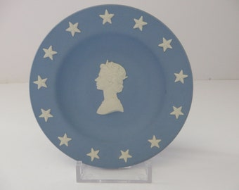 Wedgwood Jasper ware Royal vintage 1970's Pale blue pin dish