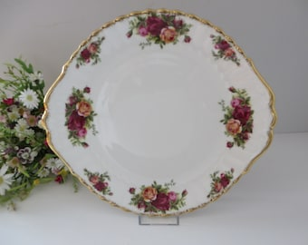Royal Albert 1970's Vintage Old Country Roses cake plate