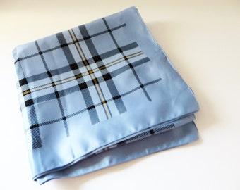 Tie Rack 1990 vintage blue check  scarf