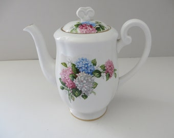 Windsor vintage 1950's floral Hydrangea coffee pot