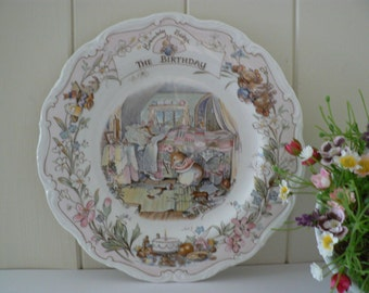 Brambly Hedge 8 inch The Birthday 1980's vintage plate