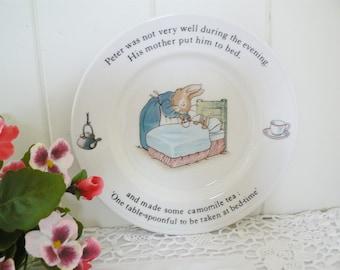 Beatrix Potter vintage 1990's  Peter Rabbit plate