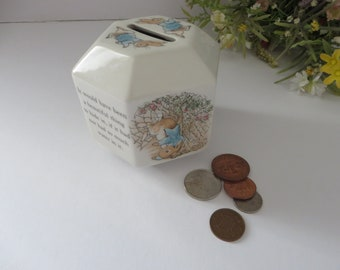 Beatrix Potter vintage 1990's Peter Rabbit money box