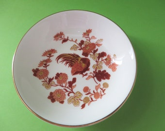 Wedgwood Golden Cockerel vintage 1980's round ring dish