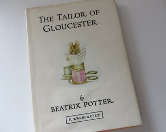 Beatrix Potter 1974 The Tailor of Gloucester vintage book