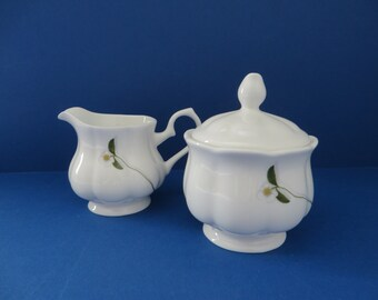 Royal Suffolk vintage 1980's white creamer set