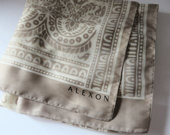 Alexon vintage early 1990's beige and cream summer scarf