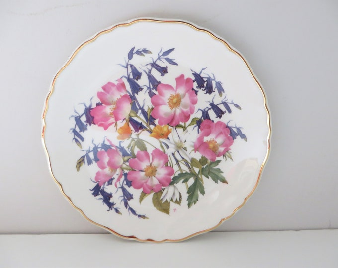 Featured listing image: Royal Albert 1980's vintage Woodland Roses wall plate