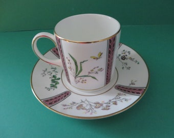 Coalport vintage 1990's  Bird of Paradise coffee cup and saucer
