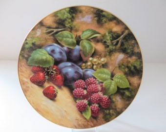 Royal Albert vintage 1990's Summer fruits plate