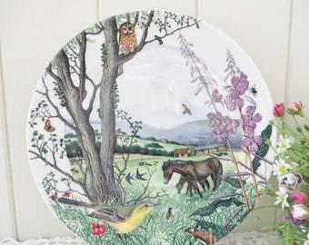 Wedgwood vintage the Hayfield 1980's plate
