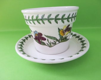 Portmeirion vintage 1980's Botanical small Herb plant holder and dish