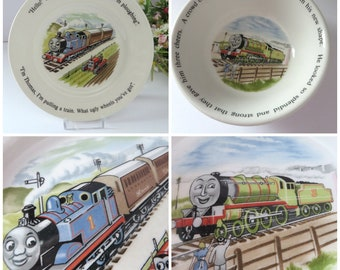 Wedgwood vintage 1980's Thomas the tank engine bowl and tea plate