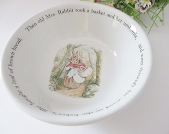 Wedgwood Beatrix Potter vintage 1980's  Peter Rabbit bowl