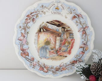 Brambly Hedge Winter vintage 1980's plate
