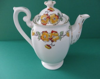 Standard vintage 1930's floral yellow coffee pot