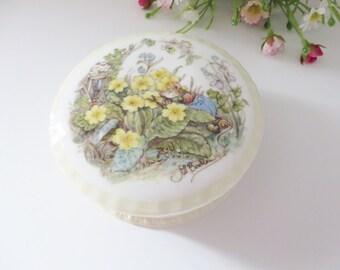 Brambly Hedge vintage 1990's Spring trinket box
