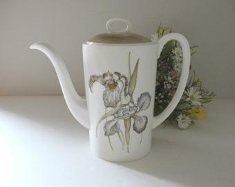 Wedgwood Susie Cooper vintage Iris 1960's coffee pot