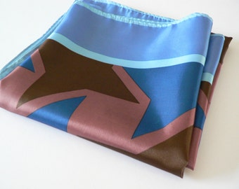 Vintage 1990's blue and pink scarf