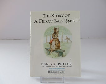 Beatrix Potter 1988 Story of the Fierce bad Rabbit vintage book