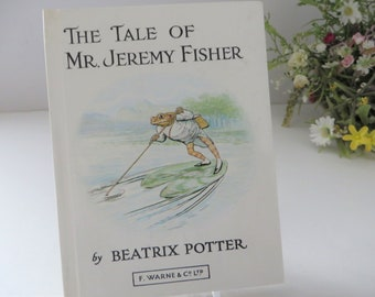 Beatrix Potter 1982 Tale of Jeremy Fisher  vintage  book