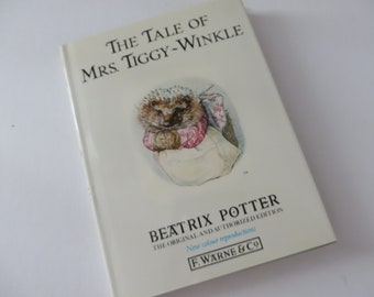 Beatrix Potter 1988 Mrs Tiggy Winkle  vintage book