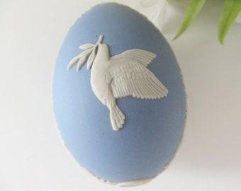 Wedgwood Jasperware vintage 1970's egg shape trinket box