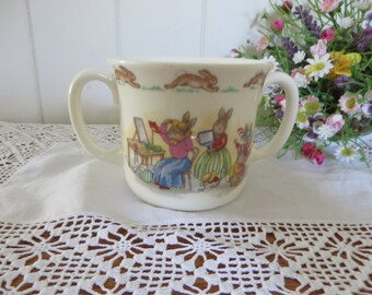 Bunnykins at the hat ship vintage 1980's mug