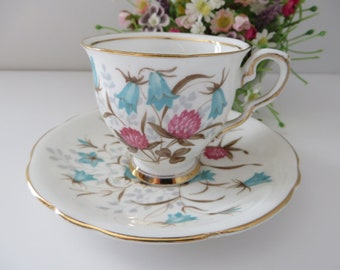 Royal Stafford 1950's vintage Cloverbel coffee cup and saucer