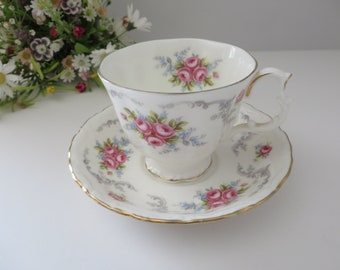 Royal Albert vintage 1960's Tranquillity teacup and saucer