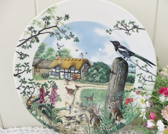 Wedgwood vintage 1980's Farm Cottage wall plate,