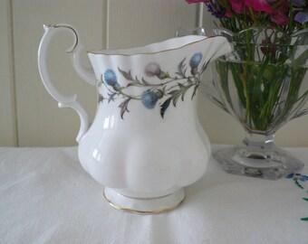 Royal Albert vintage 1960's  Brigadoon  creamer jug