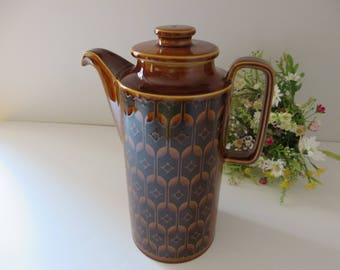Hornsea pottery vintage 1970's Heirloom coffee pot